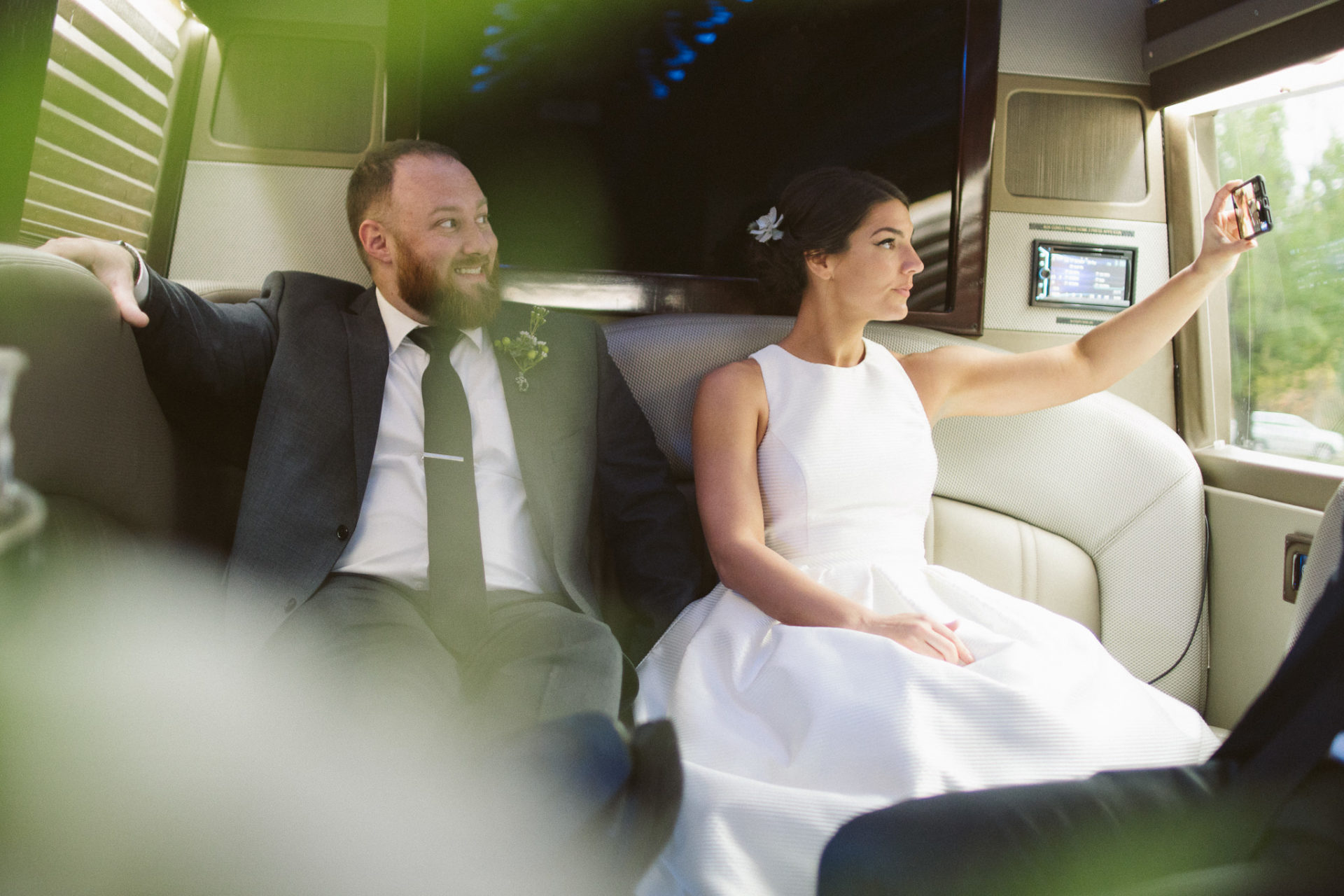 Couple in Limo