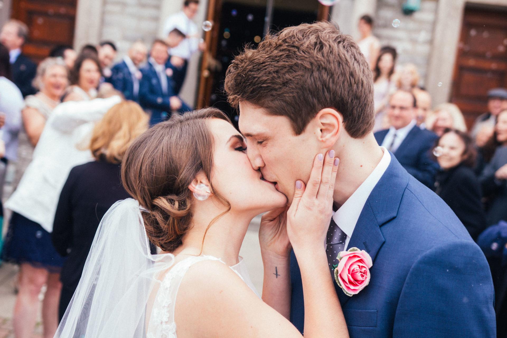 Couple Kissing in Downtown Sandusky